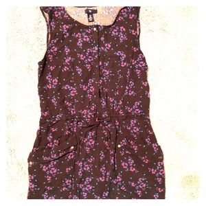 Floral and Black dress from the GAP